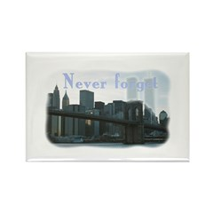 WTC Never Forget Rectangle Magnet (10 pack)