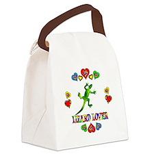 Lizard Lover Canvas Lunch Bag