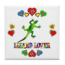 Lizard Lover Tile Coaster