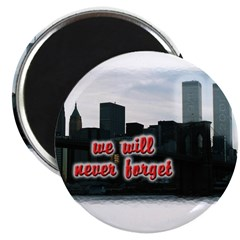 """9/11 We Will Never Forget 2.25"""" Magnet (100 pack)"""
