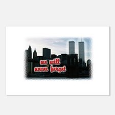 9/11 We Will Never Forget Postcards (Package of 8)
