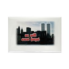 9/11 We Will Never Forget Rectangle Magnet (10 pac