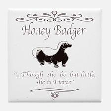 Cute Badger Tile Coaster