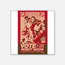 all hail robot nixon Rectangle Sticker