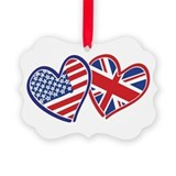 British american flag Picture Frame Ornaments