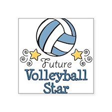 Future Volleyball Star Rectangle Sticker