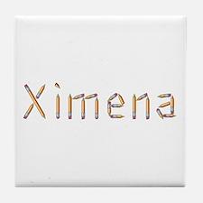 Ximena Pencils Tile Coaster