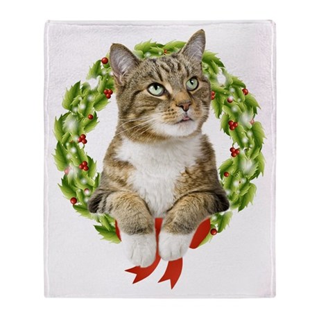 Christmas Cat Throw Blanket