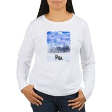 Whiter tiger in the snow T-Shirt