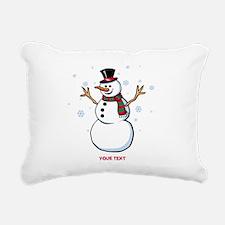 Custom Snowman Rectangular Canvas Pillow