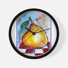 Fruit, Pear! Bright art! Wall Clock