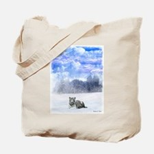 Whiter tiger in the snow Tote Bag