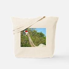 Christmas Dinosaur Tote Bag