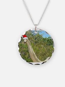 Christmas Dinosaur Necklace
