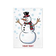 Custom Snowman 5'x7'Area Rug