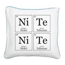 NiTe NiTe [Chemical Elements] Square Canvas Pillow