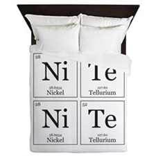 NiTe NiTe [Chemical Elements] Queen Duvet