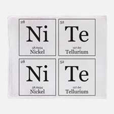 NiTe NiTe [Chemical Elements] Throw Blanket