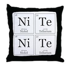 NiTe NiTe [Chemical Elements] Throw Pillow