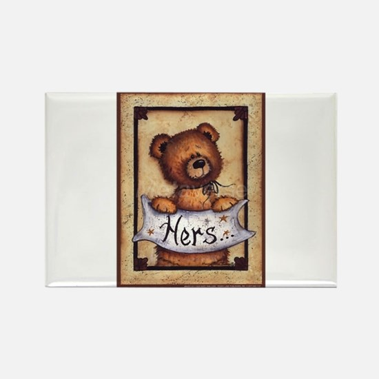 The Teddy Bear Touch Rectangle Magnet