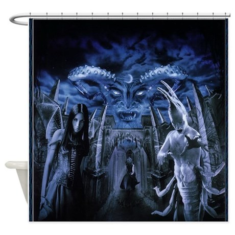 Gothic Horror Witchcraft Demon Shower Curtain