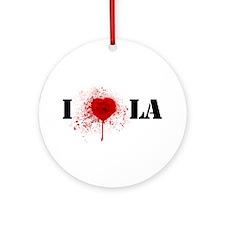 I *gunshot* LA Ornament (Round)