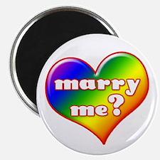 """""""Marry Me?"""" (rainbow) Magnet"""