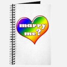 """Marry Me?"" (rainbow) Journal"