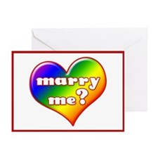 """""""Marry Me?"""" (rainbow) Greeting Cards (Pk of 10"""