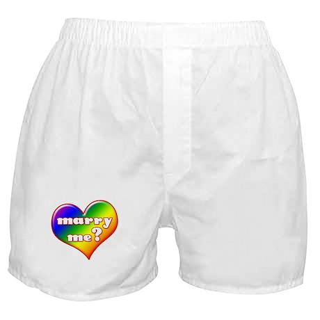 """Marry Me?"" (rainbow) Boxer Shorts"
