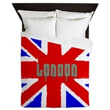 London Washed Flag Queen Duvet