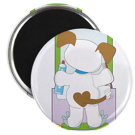 Cute Puppy Bathroom Magnet