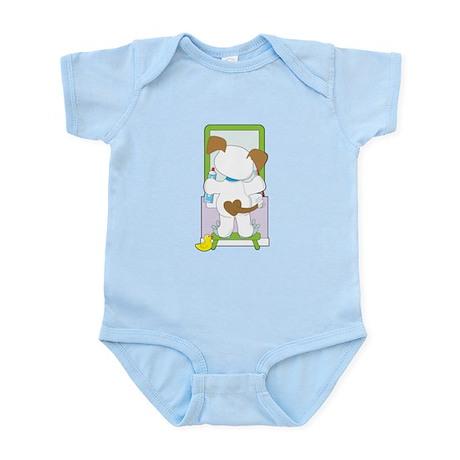 Cute Puppy Bathroom Infant Bodysuit