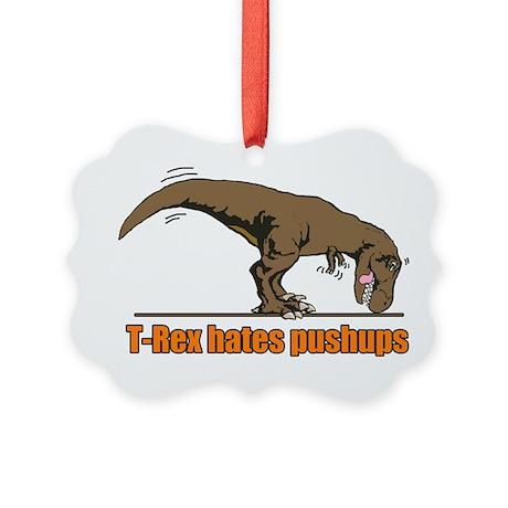 T-Rex workout Picture Ornament