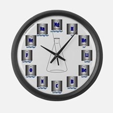 Elemental Symbols Large Wall Clock