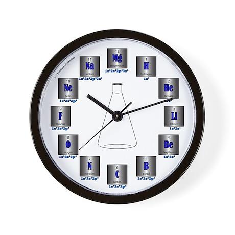Elemental Symbols Wall Clock
