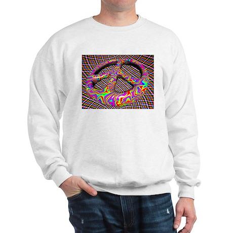 Cool Peace Sign Design Sweatshirt