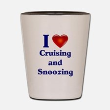 Cruising and Snoozing Shot Glass