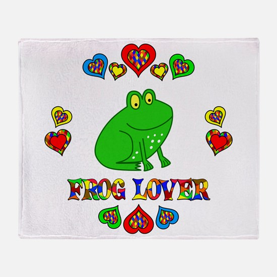 Frog Lover Throw Blanket