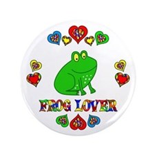 "Frog Lover 3.5"" Button"