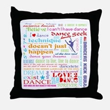 Ultimate Dance Collection Throw Pillow