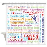 Dance Shower Curtains