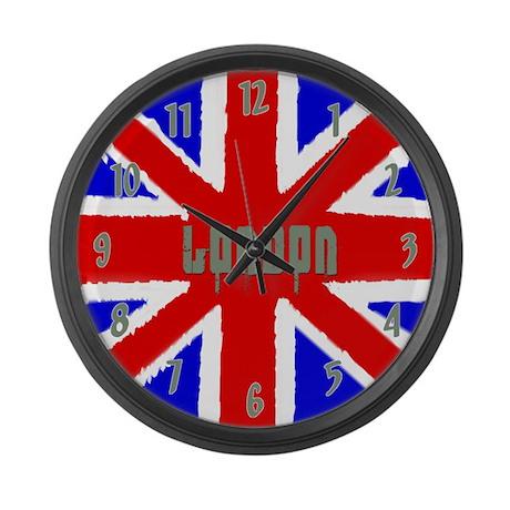 London Grunge UK Flag Large Wall Clock