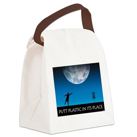 Putt Plastic In Its Place #6 Canvas Lunch Bag