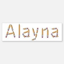 Alayna Pencils Bumper Bumper Bumper Sticker