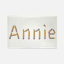 Annie Pencils Rectangle Magnet