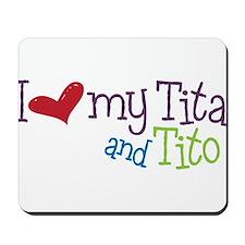 I Love My Tita and Tito Mousepad