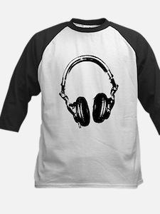 Dj Headphones Stencil Style T Shirt Tee
