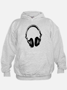Dj Headphones Stencil Style T Shirt Hoodie
