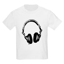 Dj Headphones Stencil Style T Shirt T-Shirt
